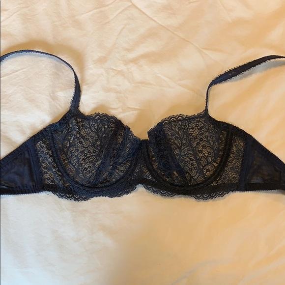 7ad4be7a54a82 journelle Intimates & Sleepwear | Deep Blue Lace Unlined Bra | Poshmark